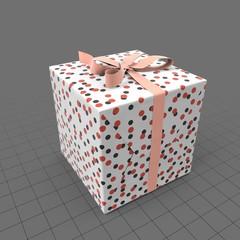 Birthday present with ribbon