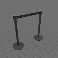 Short airport stanchions