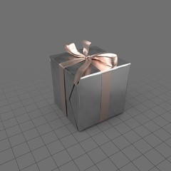 Birthday present with bow