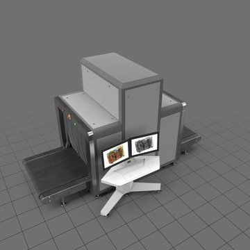 Airport x-ray luggage scanner