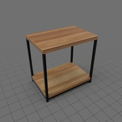 Rectangle wood end table
