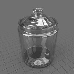Glass cookie jar with lid