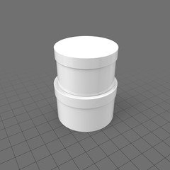 Stack of two containers