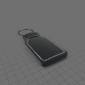 Leather keychain with stitching