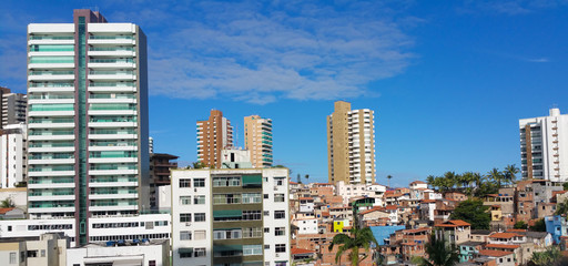 Buildings and favela