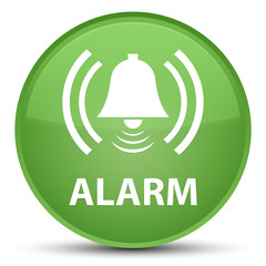 Alarm (bell icon) special soft green round button
