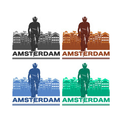 race, sport, sporty, people, male, female, cycle, silhouette isolated