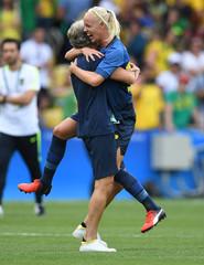 Olympics: Football-Women's Team-Semifinal -BRA vs SWE