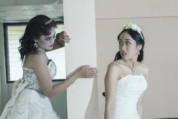 women bride death