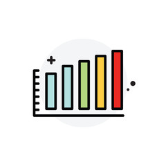 Business statistics concept Isolated Line Vector Illustration editable Icon