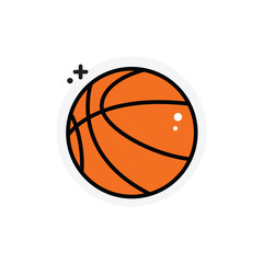 Basketball concept Isolated Line Vector Illustration editable Icon