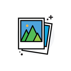 Photo concept Isolated Line Vector Illustration editable Icon
