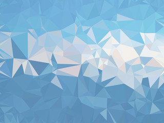 low poly blue background