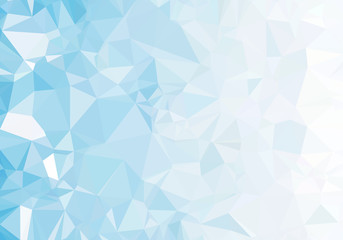 light blue polygon pattern