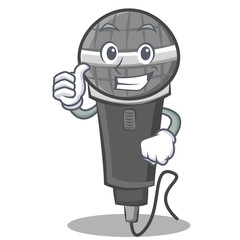 Thumbs up microphone cartoon character design
