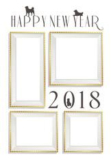 2018年年賀状写真フレーム白金