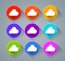 cloud icons with various colors