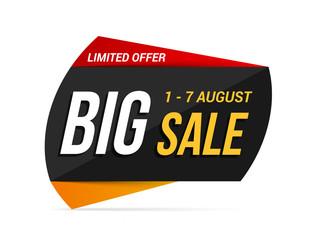 Papier Peint - Big sale banner, limited offer, vector eps10 illustration