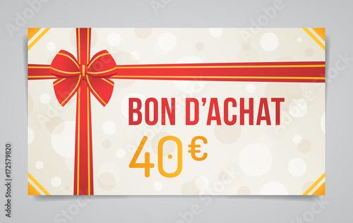 Bon d 39 achat 40 euros fichier vectoriel libre de droits for Bon d achat id garage