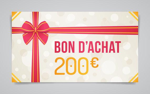 Bon d'Achat - 200 euros