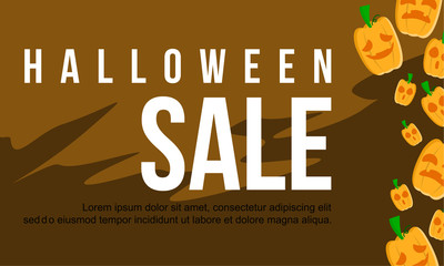 Halloween sale design banner collection