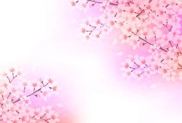 桜 和紙 年賀状 背景