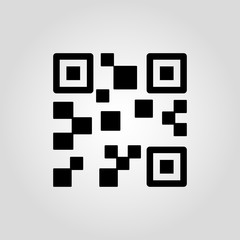 QR code isolated vector flat icon