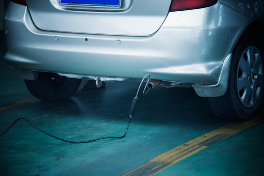 Automobile exhaust emission test