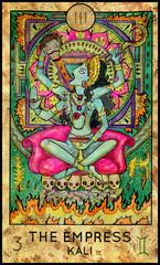 Empress. Kali Hindu Goddess. Fantasy Creatures Tarot full deck. Major arcana