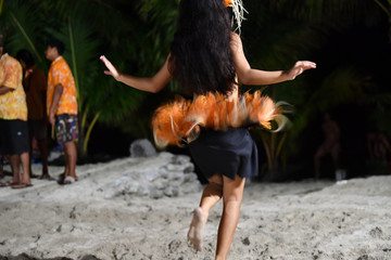 Polynesian dancer hula move effect