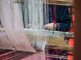 Weaving with local apparatus