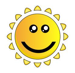 Cartoon Sun Smiley Vector