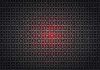 Black and red perforated metal abstract geometric background, vector