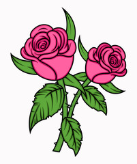 Valentine Roses Vector