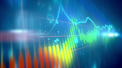 Shifting business line chart