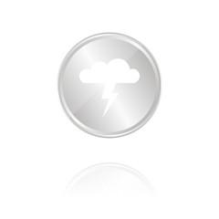 Gewitterwolke - Silber Münze mit Reflektion