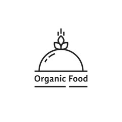 black organic food logo like dish