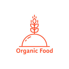 red dish like organic food logo