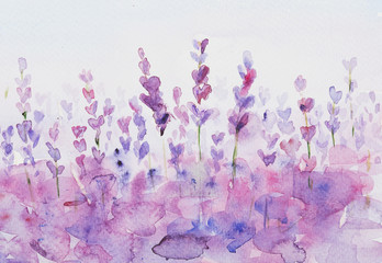 Lavendel watercolor background.