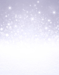 Iced silver winter background