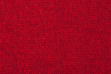 Red knitted melange textile pattern