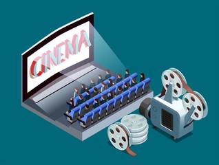 Isometric Cinema Icon
