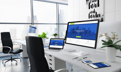 office desktop modern web design