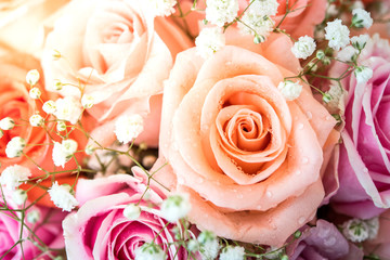 background of rose bouquet
