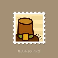 Pilgrim hat stamp. Harvest. Thanksgiving vector
