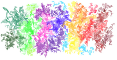 Abstract Smeared Colors Background - Digital Illustration Colorful Wallpaper