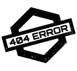 404 Error rubber stamp. Grunge design with dust scratches. Effects can be easily removed for a clean, crisp look. Color is easily changed.