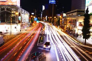 品川駅前の夜景