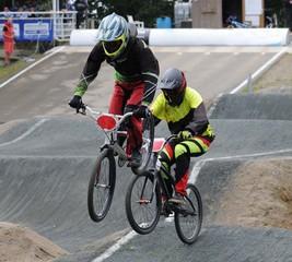 bicycle motocross pilote de BMX Race en compétition