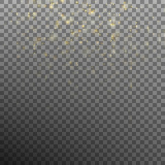 Star dust sparks in explosion. EPS 10 vector